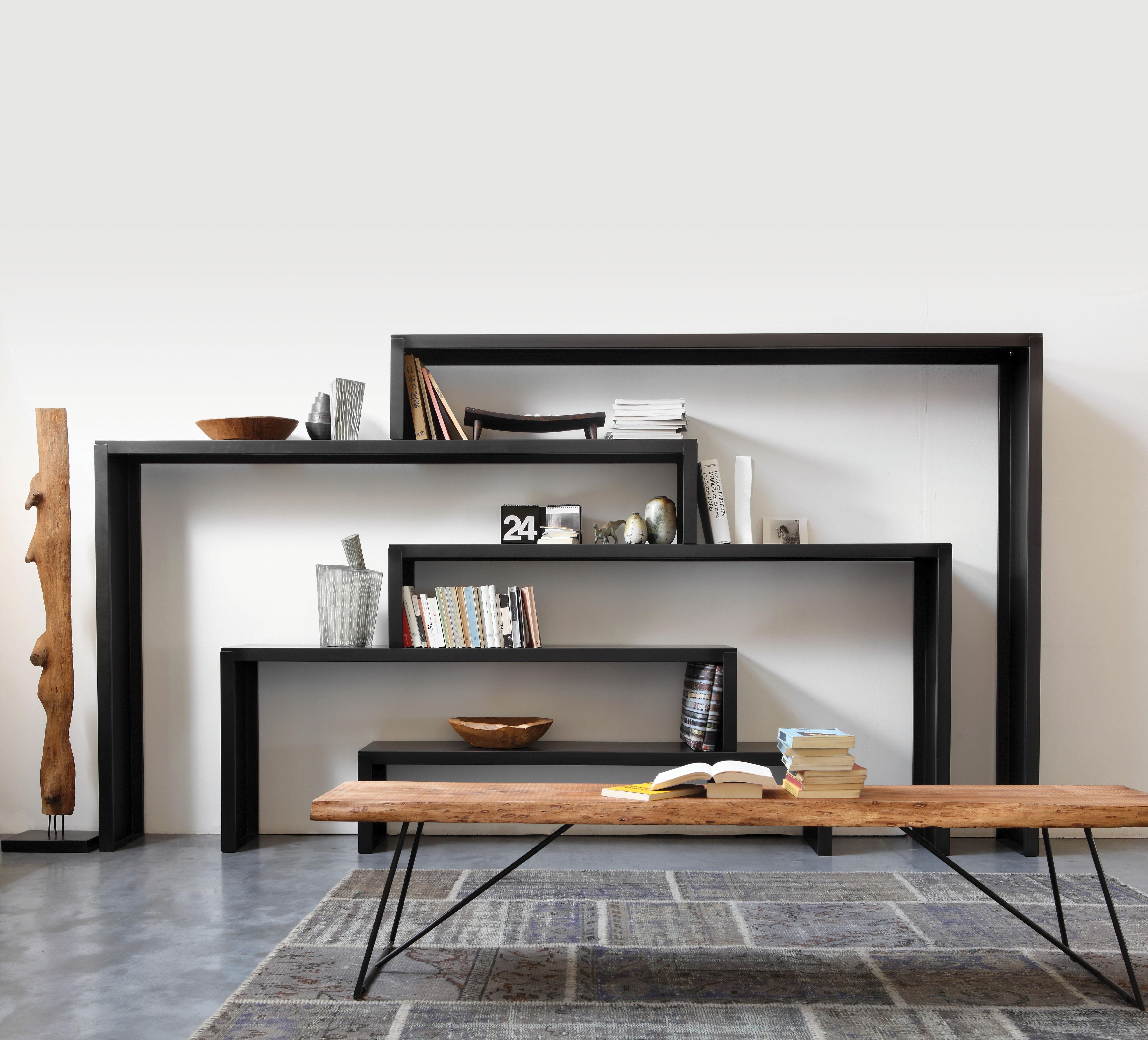 modernes mobel design, old times bench natural wood / black leg by zeus, Design ideen
