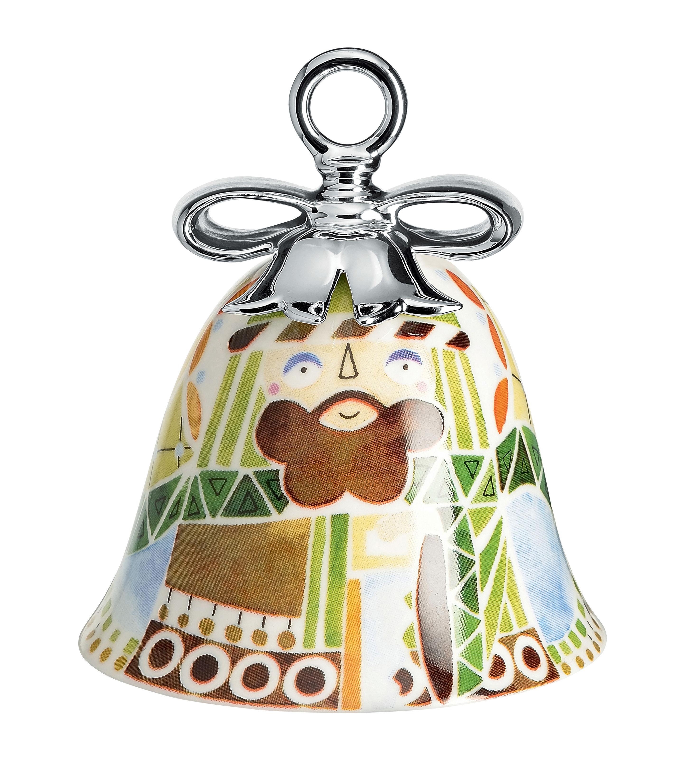 Déco - Objets déco et cadres-photos - Boule de Noël Holy Family / Cloche Joseph - Porcelaine peinte main - Alessi - Joseph / Multicolore - Porcelaine peinte