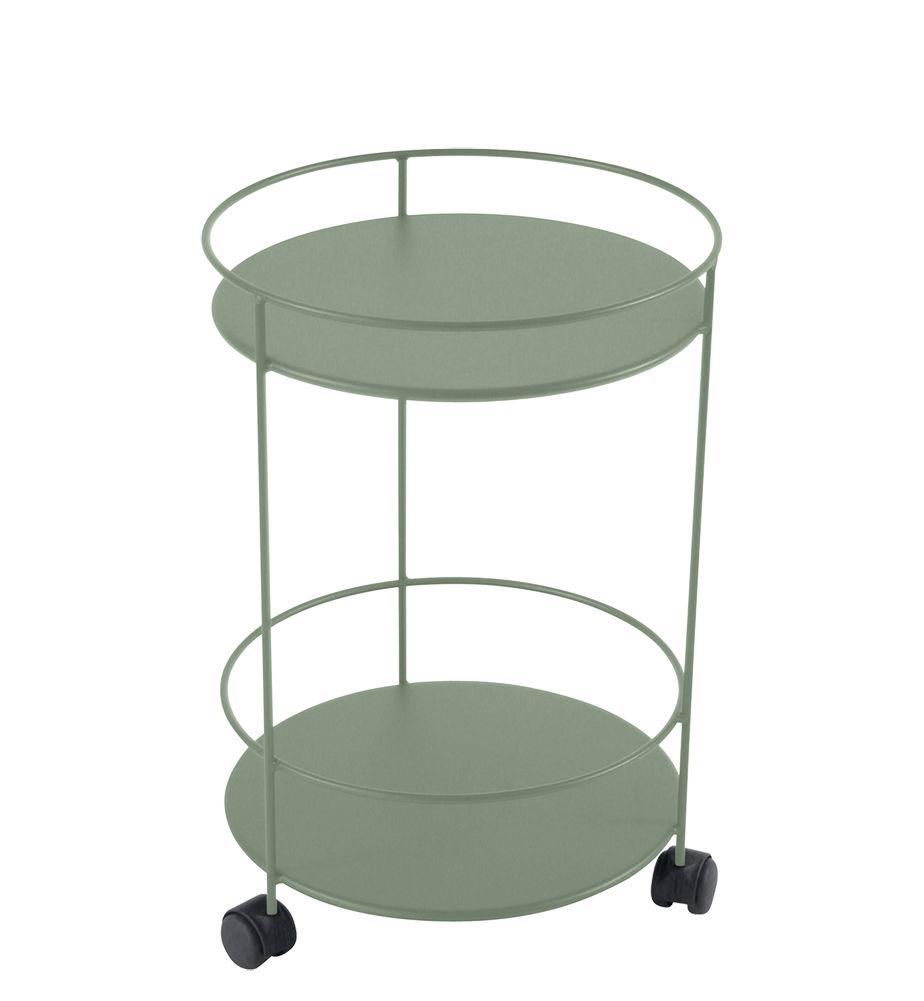 Arredamento - Tavolini  - Carrello Guinguette - / con ruote - Ø 40 x H 62 cm di Fermob - Cactus - Acciaio laccato