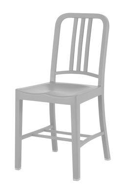 Chaise 111 Navy chair Outdoor / Plastique recyclé - Emeco gris en matière plastique