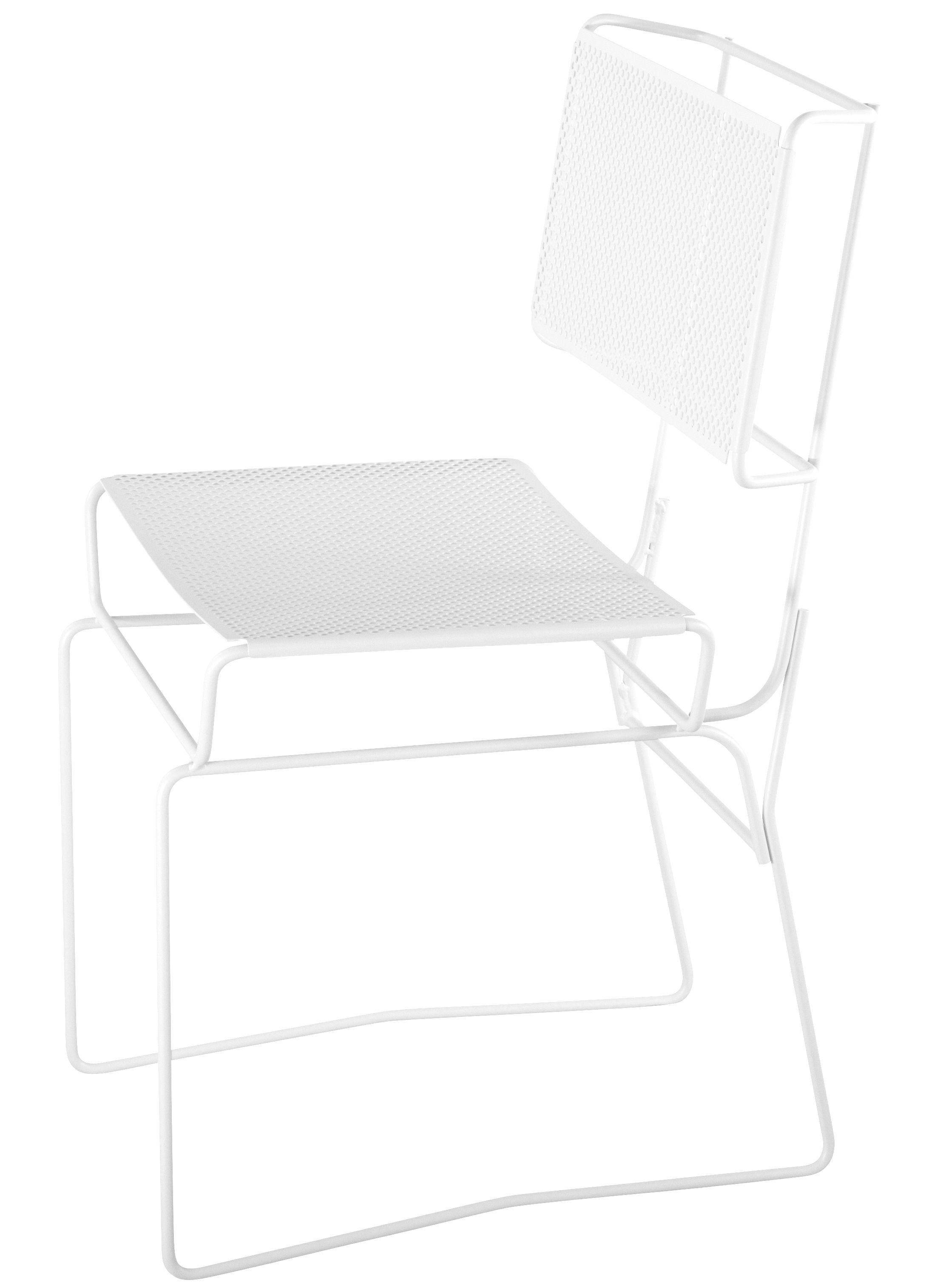 Mobilier - Chaises, fauteuils de salle à manger - Chaise Fil - AA-New Design - Blanc - Acier laqué époxy