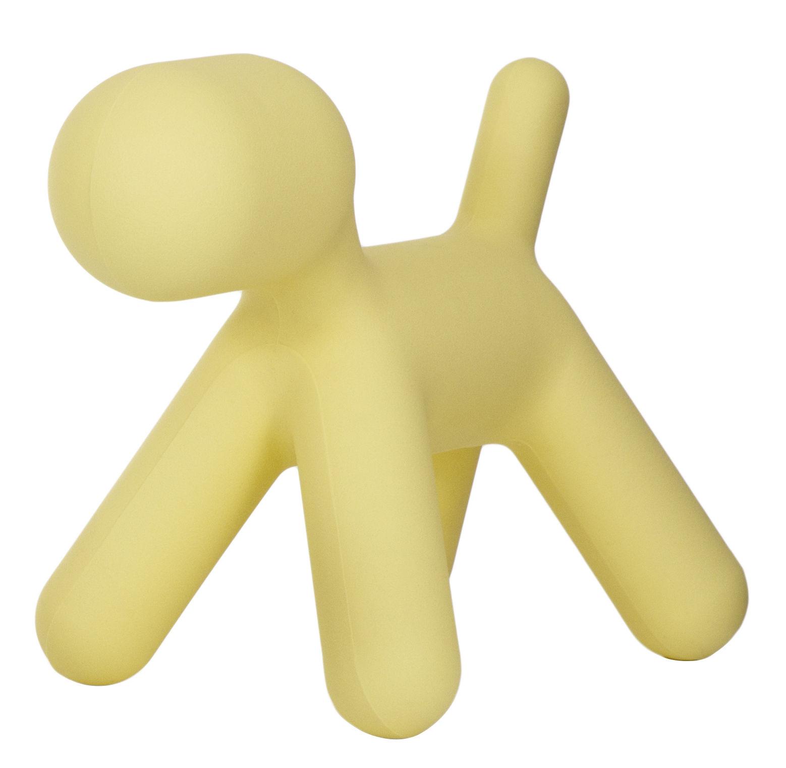 Mobilier - Mobilier Kids - Décoration Puppy Large / L 69 cm - Magis Collection Me Too - Jaune mat - Polyéthylène rotomoulé