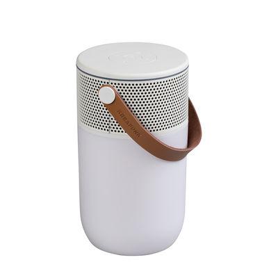 Accessoires - Enceintes audio & son - Enceinte Bluetooth aGlow / Lampe de table - Portable - Kreafunk - Blanc - Matière plastique