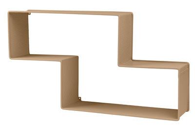 Mobilier - Etagères & bibliothèques - Etagère Dédal / Matégot - L 90 cm - Réédition 50' - Gubi - Sable - Tôle d'acier