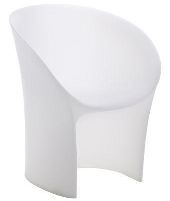 Mobilier - Chaises, fauteuils de salle à manger - Fauteuil Moon intérieur / extérieur - Moroso - Blanc transparent - Polyéthylène