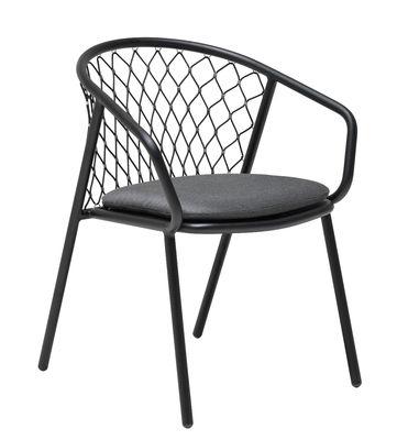 fauteuil nef emu fauteuil noir l 63 x prof 60 x h 81 cm assise h 46 cm accoudoirs. Black Bedroom Furniture Sets. Home Design Ideas