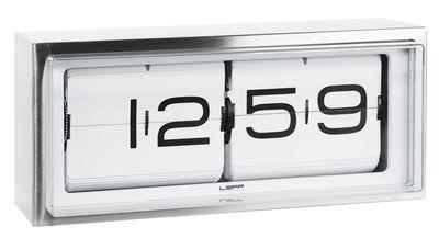Horloge murale Brick / A poser ou à suspendre - LEFF amsterdam blanc,acier en métal