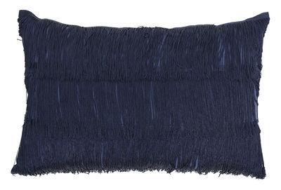 Kissen / 60 x 40 cm - mit Fransen - Bloomingville - Indigoblau