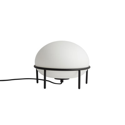 Illuminazione - Lampade da tavolo - Lampada da tavolo Pump - / Vetro di Woud - bianco nero - metallo verniciato, Vetro
