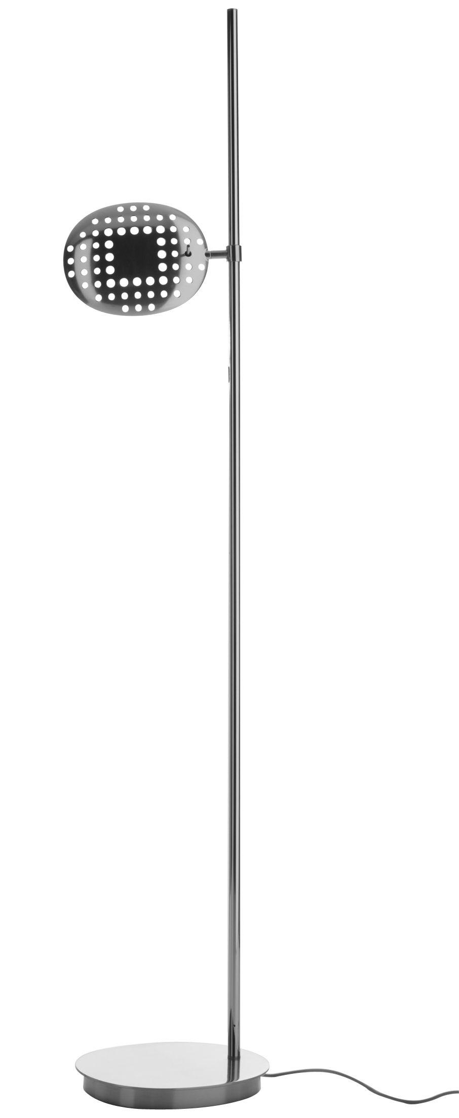 Luminaire - Lampadaires - Lampadaire Reall LED / H 190 cm - Artemide - Chromé - Aluminium brillant