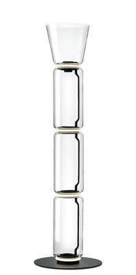 Lampe à poser Noctambule Cône n°3 / LED - Ø 36 x H 197 cm - Flos noir,transparent en verre