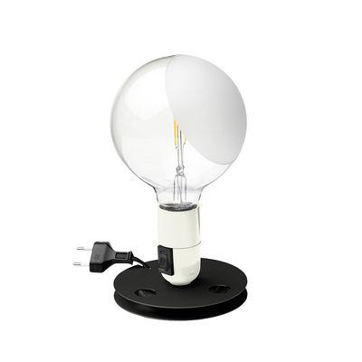 Lampe de table Lampadina / Achille Castiglioni, 1974 - Flos blanc,aluminium en métal