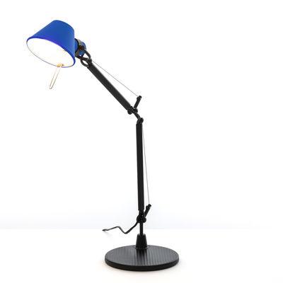 Luminaire - Lampes de table - Lampe de table Tolomeo Micro Bicolor - Artemide - Bleu / Noir - Acier, Aluminium