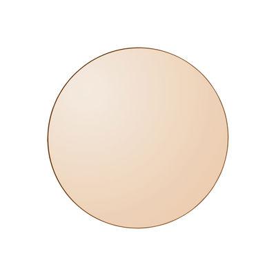 Déco - Miroirs - Miroir mural Circum XS / Ø 50 cm - AYTM - Ambre / Cadre ambre - MDF peint, Verre