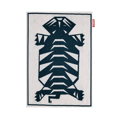 Decoration - Rugs - Carpretty Nottazebroh Outdoor rug - / 160 x 230 cm - Woven polypropylene by Fatboy - Blue - Woven polypropylene