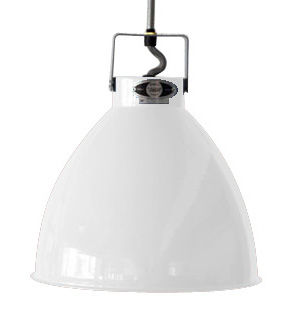 Lighting - Pendant Lighting - Augustin Pendant - Medium Ø 24 cm by Jieldé - White - Lacquered metal