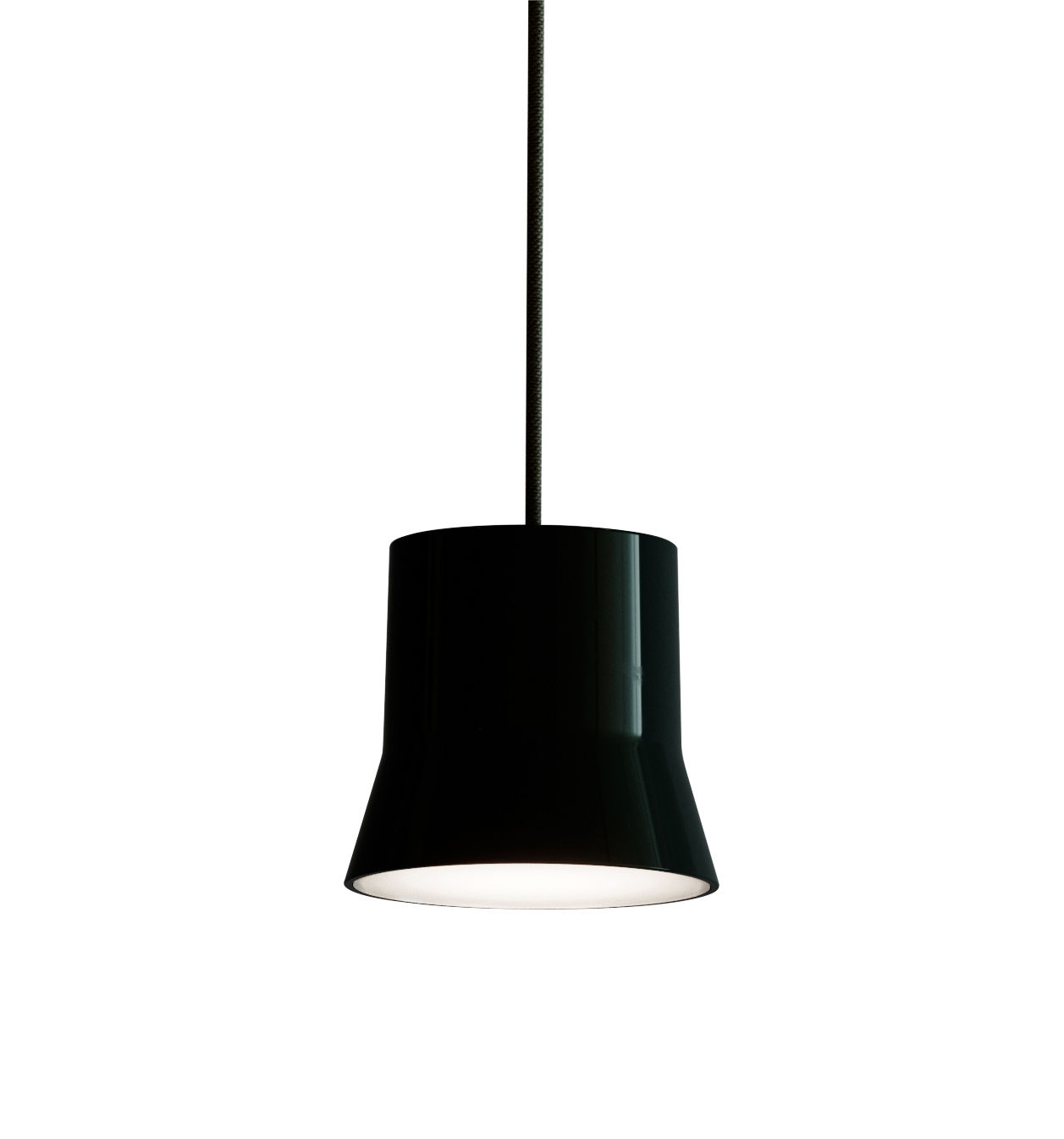 Lighting - Pendant Lighting - Gio Light Pendant - / LED - Ø 10.7 cm by Artemide - Black / Black cable - Aluminium, Glass