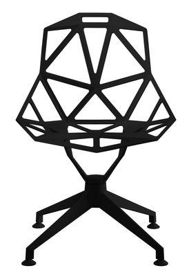 Arredamento - Sedie  - Poltrona girevole Chair One 4Star di Magis - Nero - Ghisa di alluminio verniciato