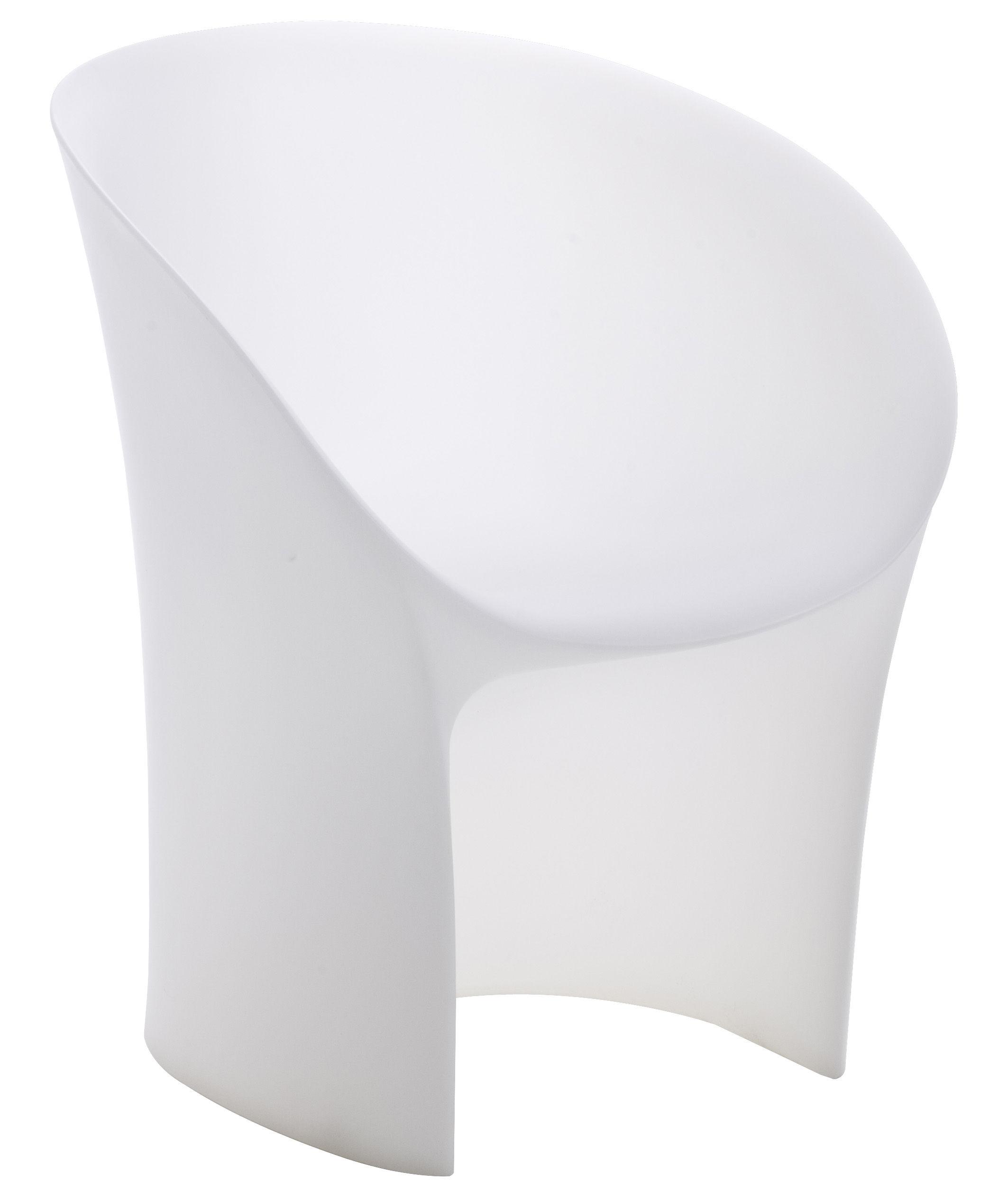 Arredamento - Sedie  - Poltrona Moon - interno/esterno di Moroso - Bianco trasparente - Polietilene