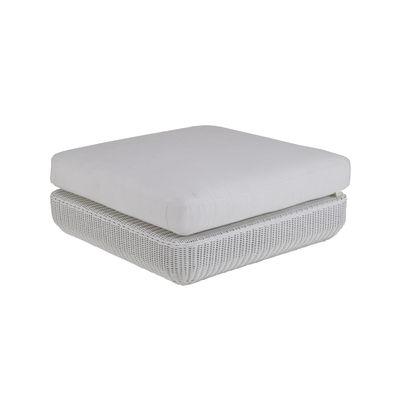 Mobilier - Poufs - Pouf Agorà / Coussin - 100 x 100 cm - Unopiu - Blanc / Coussin blanc écru - Aluminium, Fibre synthétique Waprolace, Mousse, Tissu acrylique