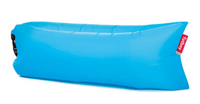 Pouf gonflable Lamzac the Original 2.0 / L 200 cm - Nylon - Fatboy Pouf gonflé : L 200 x larg. 90 cm x H 50 cm - Pouf plié : L 35 x Ø 18 cm bleu en tissu