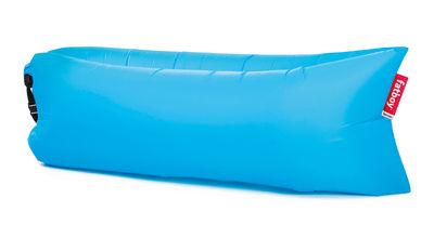 Pouf gonflable Lamzac the Original 2.0 / L 200 cm - Nylon - Fatboy Pouf gonflé : L 200 x larg. 90 cm x H 50 cm - Pouf plié : L 35 x Ø 18 cm bleu aqua en tissu