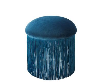 Image of Pouf Medusa - / Small - Ø 45 x H 48 cm di Bolia - Blu petrolio - Metallo
