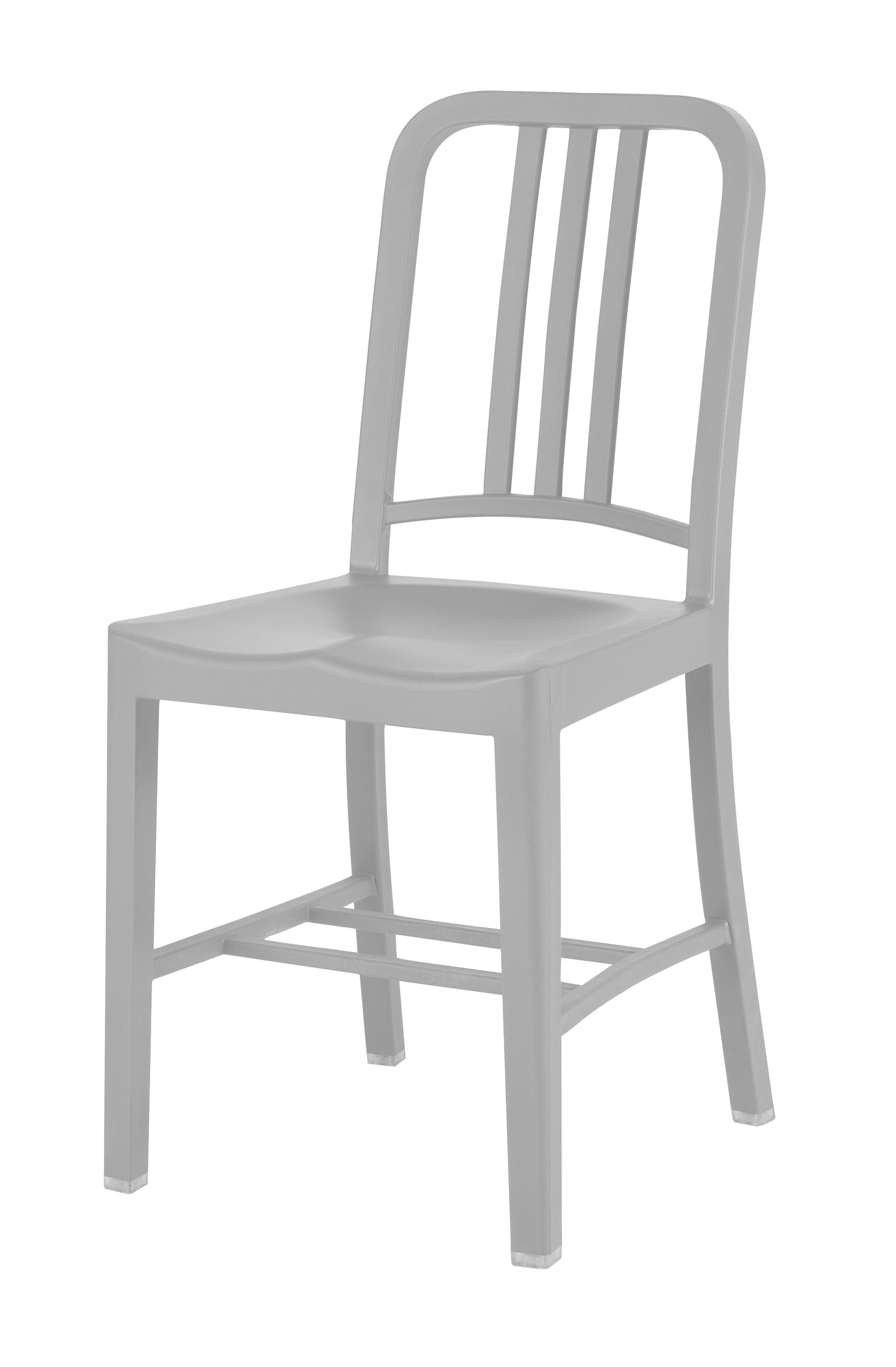 Arredamento - Sedie  - Sedia 111 Navy chair Outdoor di Emeco - Grigio chiaro - Fibra di vetro