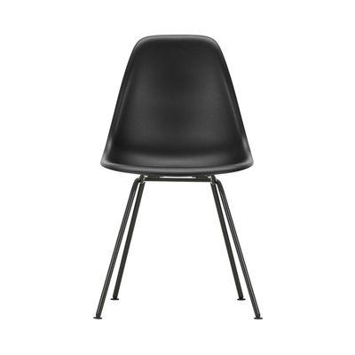 Arredamento - Sedie  - Sedia DSX - Eames Plastic Side Chair - / (1950) - Gambe nere di Vitra - Nero / Gambe nere - Acciaio laccato epossidico, Polipropilene