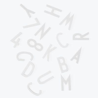 Set Chiffres & Lettres Big / Pour panneau perforé - Design Letters blanc en matière plastique
