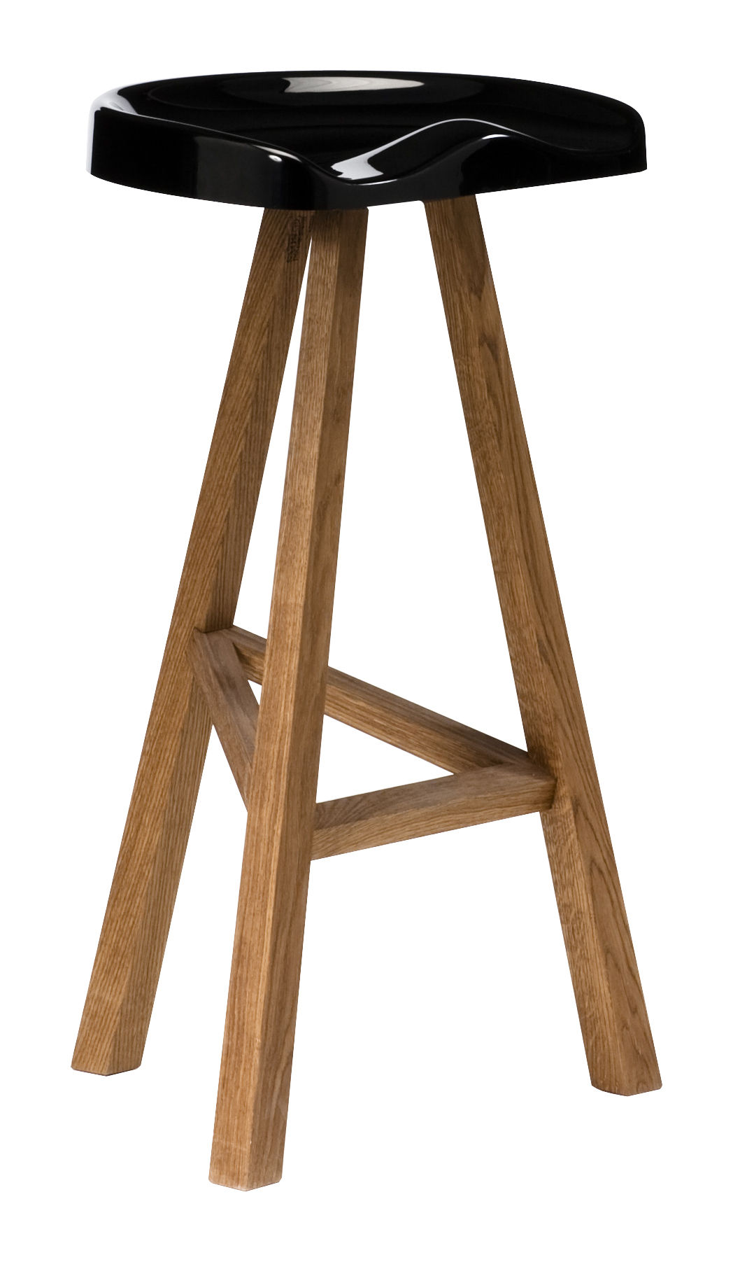 Arredamento - Sgabelli da bar  - Sgabello bar Heidi - H 80 cm di Established & Sons - Nero - Poliuretano, Rovere oliato