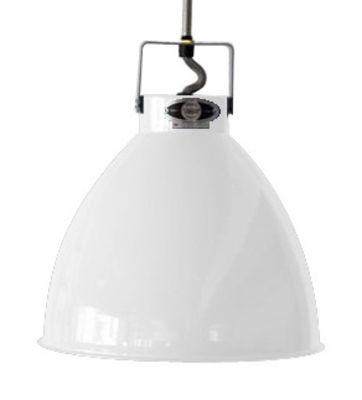 Illuminazione - Lampadari - Sospensione Augustin - Medium Ø 24 cm di Jieldé - Bianco brillante / Interno argento - metallo laccato