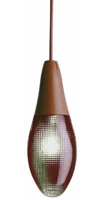 Image of Sospensione Pod lens di Luceplan - Rosso/Marrone - Materiale plastico