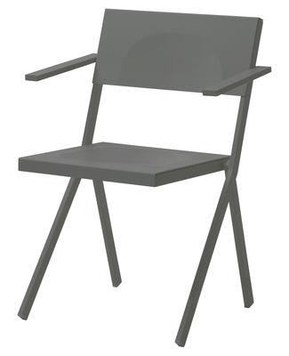 Furniture - Chairs - Mia Stackable armchair - Metal by Emu - Grey - Aluminium, Steel