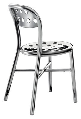 Furniture - Chairs - Pipe Stacking chair - Polished aluminium by Magis - Polished aluminium - Polished aluminium, Polished steel
