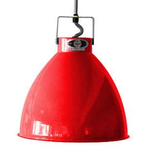 Luminaire - Suspensions - Suspension Augustin Small Ø 16 cm - Jieldé - Rouge brillant / Intérieur argent - Métal laqué
