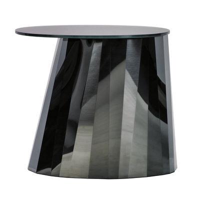 Table d'appoint Pli / H 48 cm - Métal & verre - ClassiCon noir en métal/verre