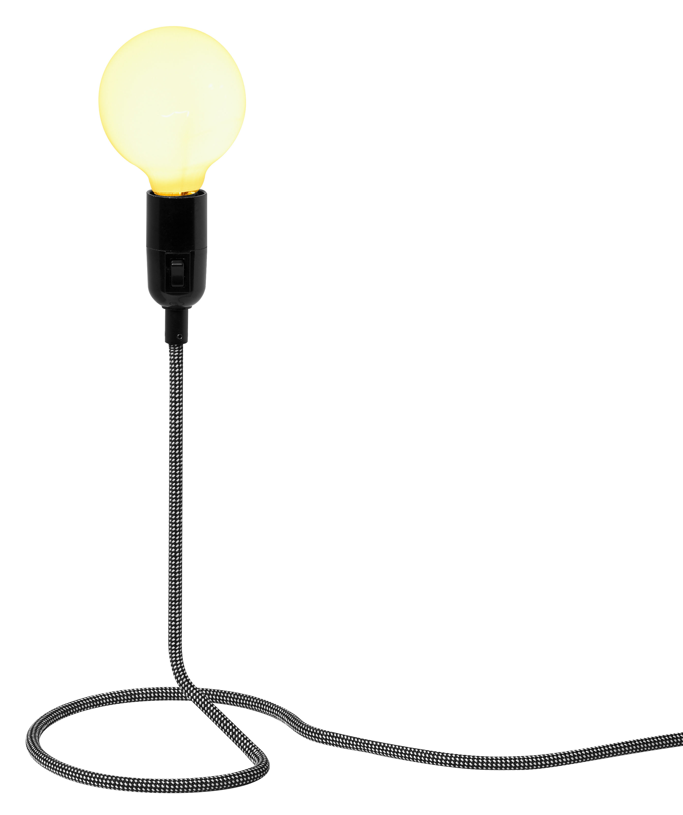 Lighting - Table Lamps - Cord Lamp Table lamp by Design House Stockholm - Black & white cord - Cotton, Steel
