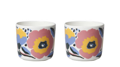 Tasse à café Rosarium / Sans anse - Set de 2 - Marimekko bleu,rose en céramique
