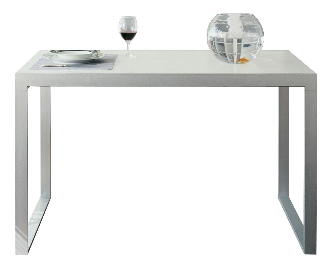 Maison et Objet - MINIMALISMO - Tavolo con prolunga Wow! Plus - L 140 / 220 cm di Horm - Bianco - Acciaio laccato, Laminato