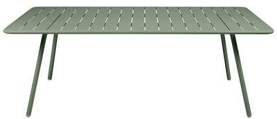 Outdoor - Tavoli  - Tavolo Luxembourg / 8 persone - 207 x 100 cm - Fermob - Cactus - Alluminio laccato