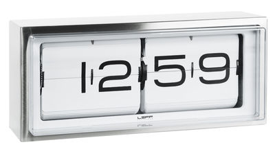 Decoration - Wall Clocks - Brick Wall clock - Standing or mural by LEFF amsterdam - Steel, white - Stainless steel
