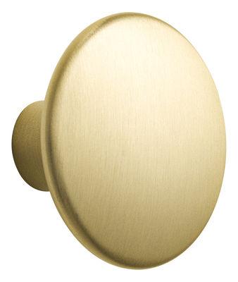Arredamento - Appendiabiti  - Gancio The Dots Metal / Large - Ø 5 cm - Muuto - Ottone - Ottone massiccio