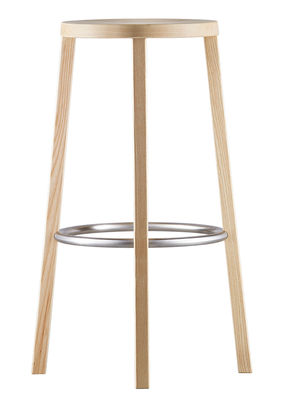 Furniture - Bar Stools - Blocco Bar stool - Wood - H 76 cm by Plank - Natural Ash - Natural ash