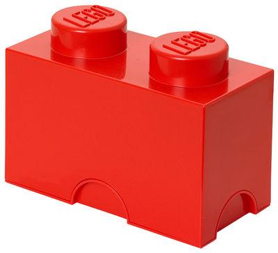 Déco - Pour les enfants - Boîte Lego® Brick / 2 plots - Empilable - ROOM COPENHAGEN - Rouge - Polypropylène