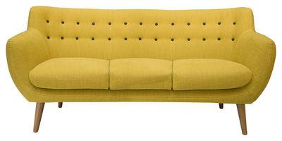 Canapé droit Coogee / 3 places - L 181 cm - Sentou Edition jaune citron en tissu