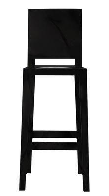 Chaise de bar One more please / H 65cm - Plastique - Kartell noir en matière plastique