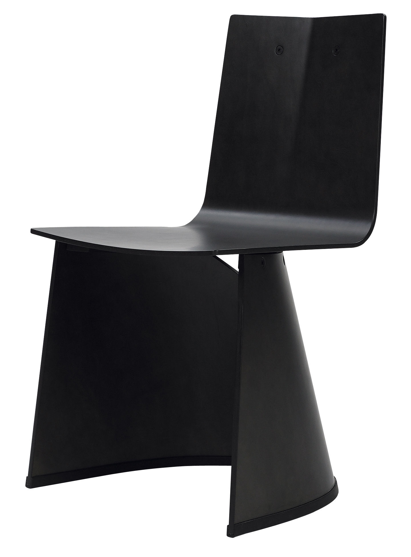 Mobilier - Chaises, fauteuils de salle à manger - Chaise Venus / Bois - ClassiCon - Chêne teinté noir - Contreplaqué de chêne laqué