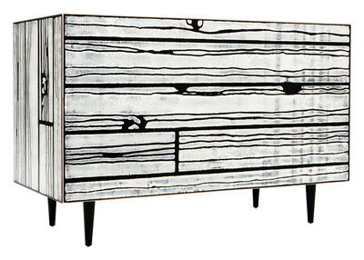 Furniture - Dressers & Storage Units - Wrongwoods Chest of drawers - Chest of drawers by Established & Sons - Black & white - Painted plywood