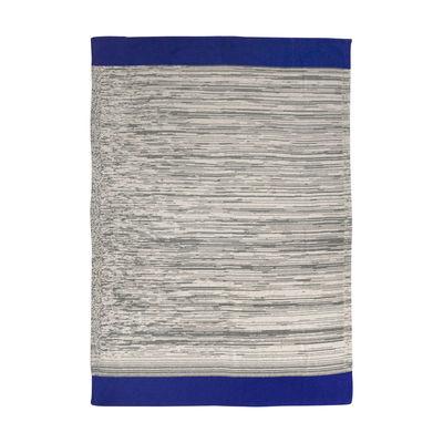 Decoration - Children's Home Accessories - Dusty Rainbow Children blanket - / 80 x 100 cm by Ferm Living - Blue / Grey-green - Organic cotton